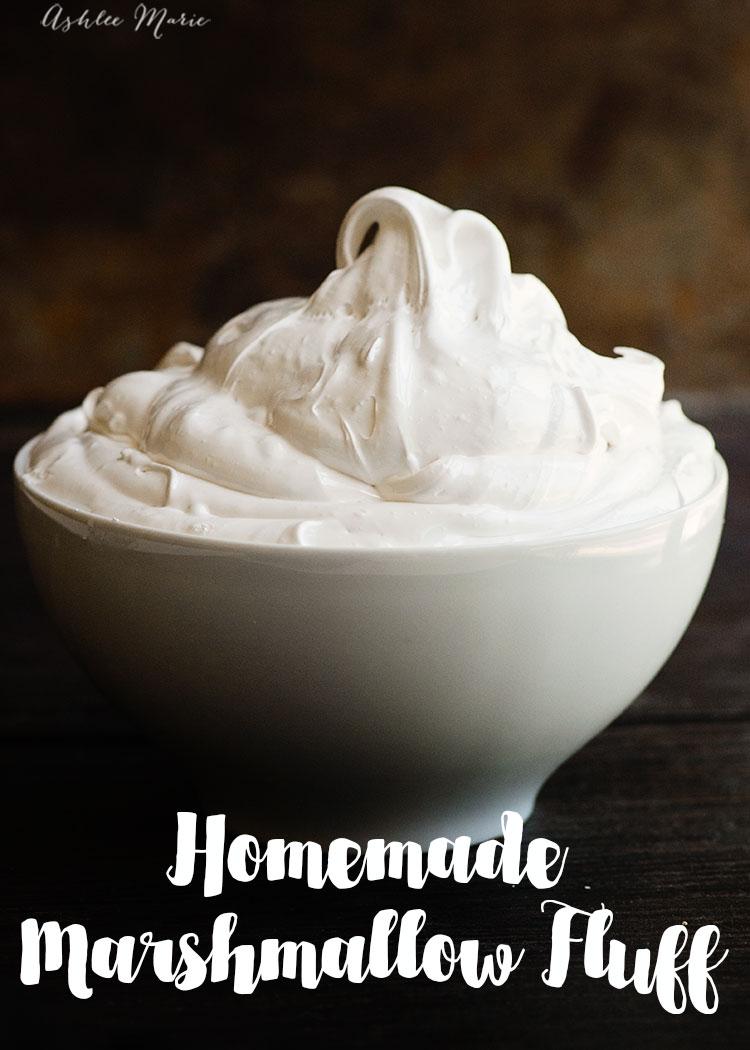 Homemade Marshmallow Fluff Ashlee Marie