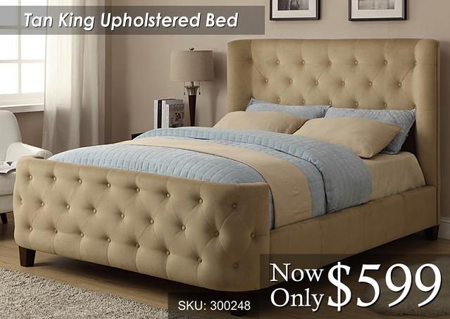 Tan King Bed