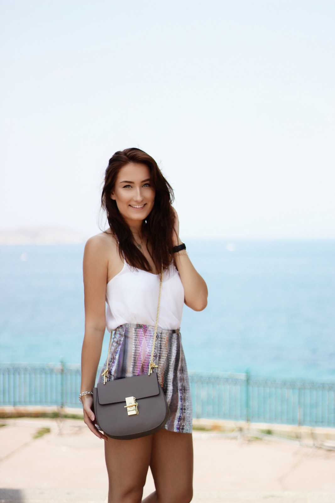 Sommer Outfit mit Chloe Drew Bag