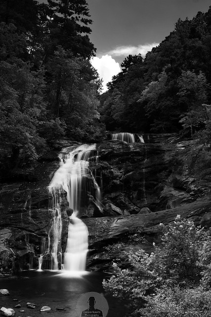 Bald River Falls Black & White