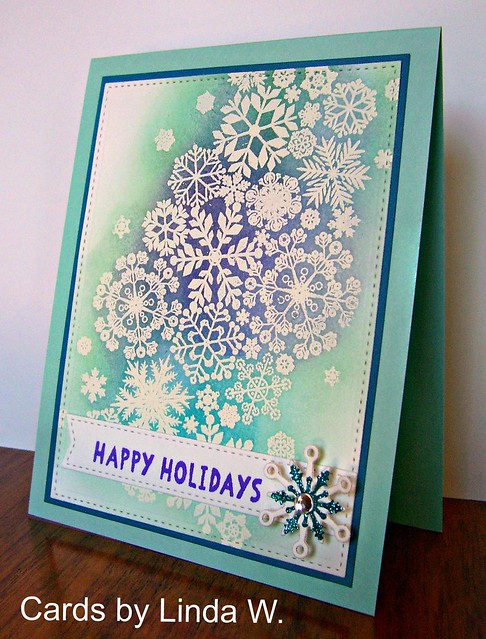 Happy Holidays snowflakes 2