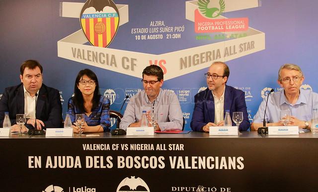 Presentación partido amistoso Valencia CF