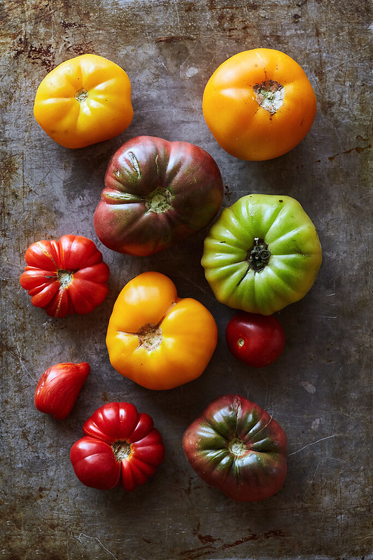 Chilled Roasted Heirloom Tomato Soup