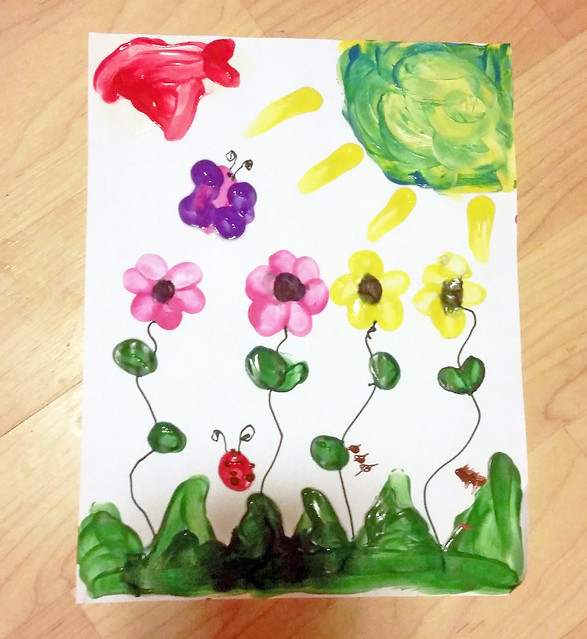 Finger Print Flowers Craft