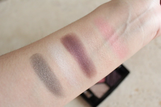 Swatches of Dior Eyeshadow palette in Capital of Light for fall 2016 makeup
