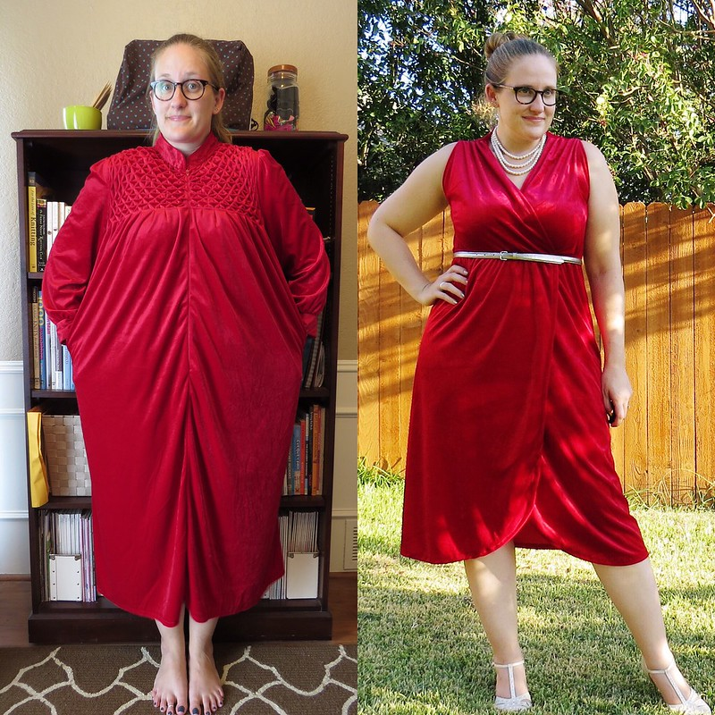 Velvet Tulip Dress - Before & After