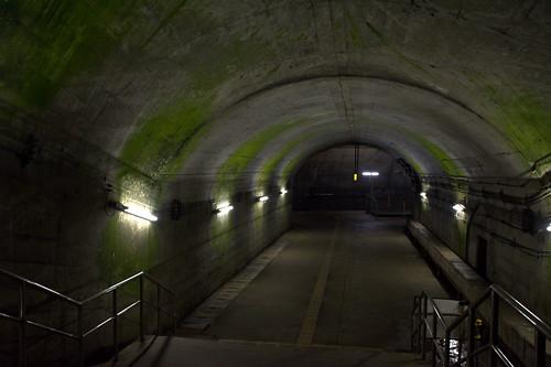 土合駅:下りホーム層