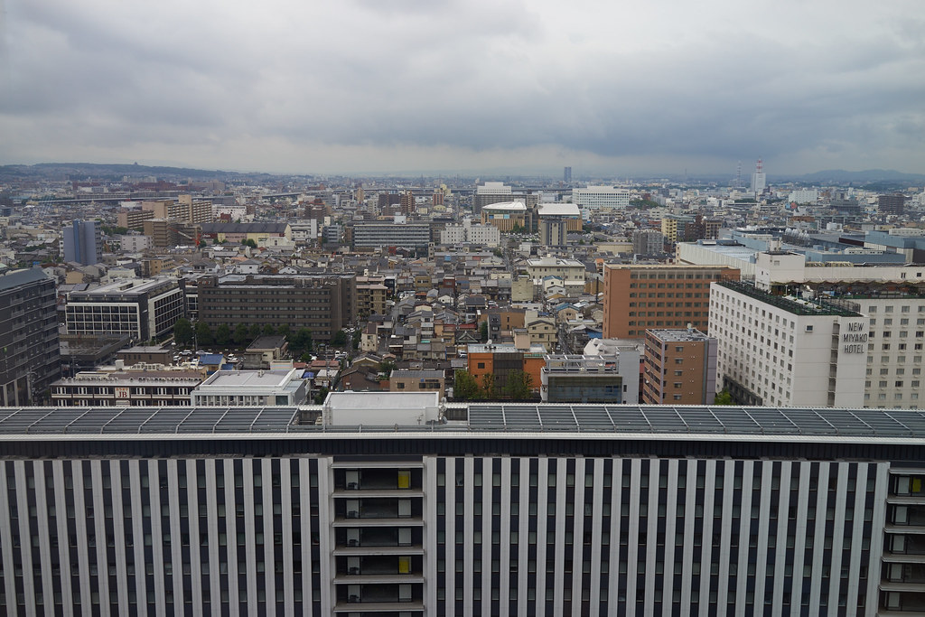 view from Kyoto station 京都駅からの眺め