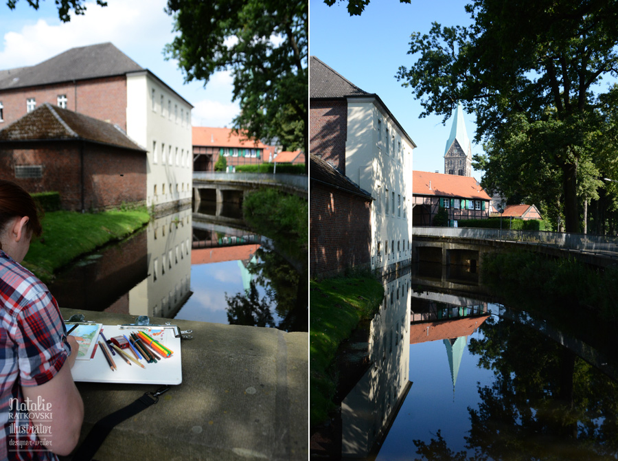 My plen-air workshop for illustrators in Herten