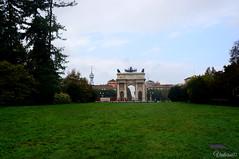 Парк Семпионе. Parco Sempione. Milan. Italy