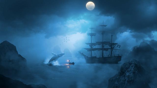 Fight night at sea