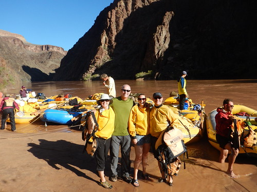 Fred, Claire, Kyle and I getting ready for a day of paddling and whitewater rapids running on the Colorado River