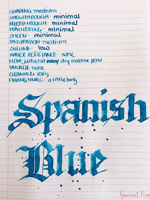 Ink Shot Review Franklin-Christoph Spanish Blue @1901FC 6