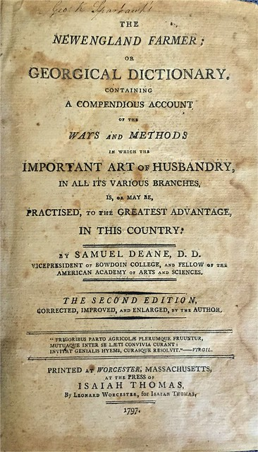 new england farmer title page