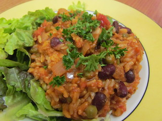 Seitanic Red and White Bean Jambalaya