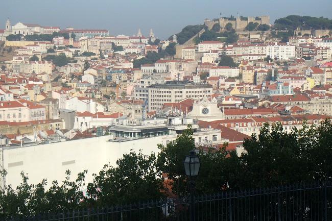 Portogallo, Lisbona -  Barrio Alto, Miradouro de Sao Pedro de Alcantara