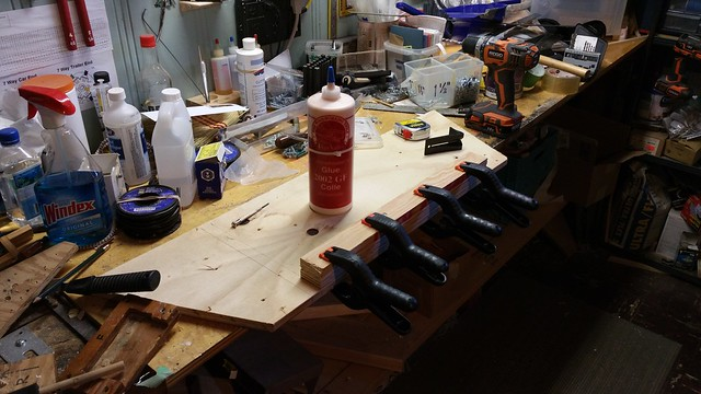 Cleat glued and clamped in place