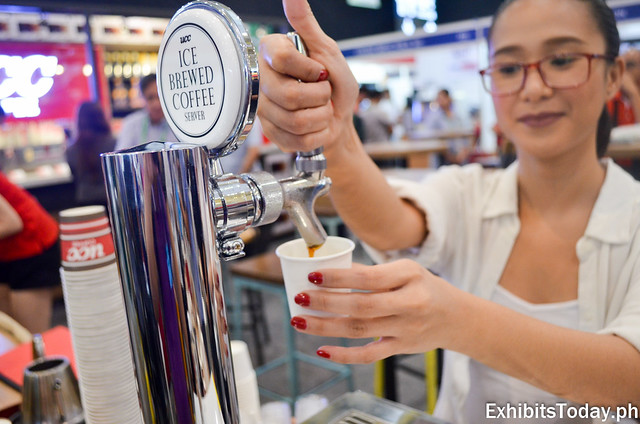 Iced Brewed Coffee Server at UCC Booth