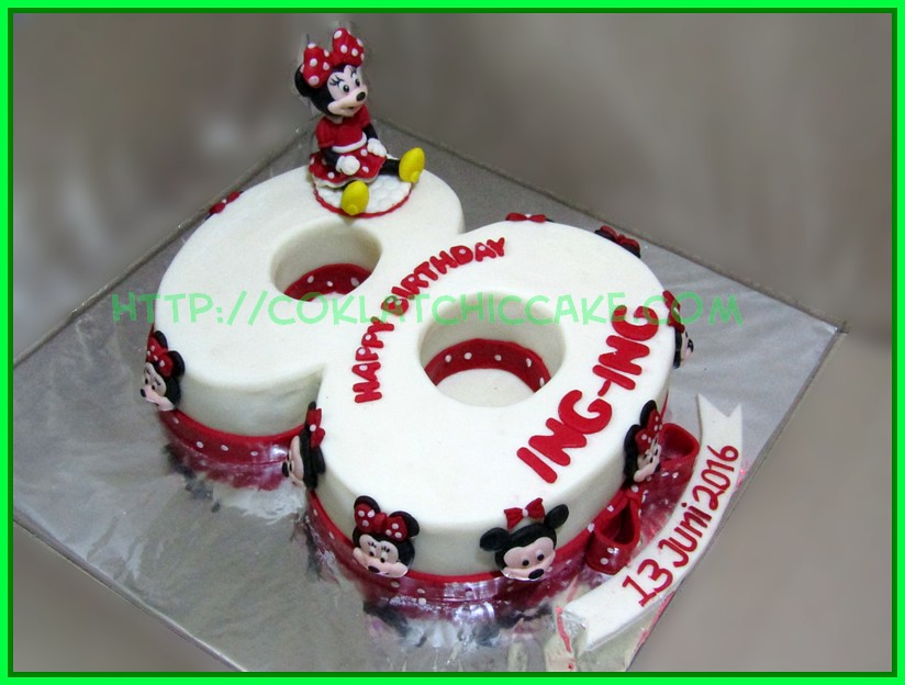 Cake angka 8 Minnie