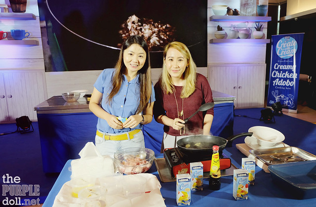 Sumi and Berylle to cook a Creamy Chicken Adobo