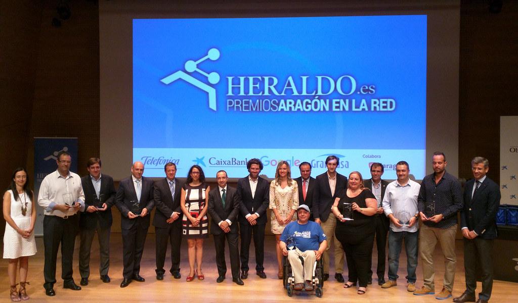 Foto general de los Premios Aragón en la Red