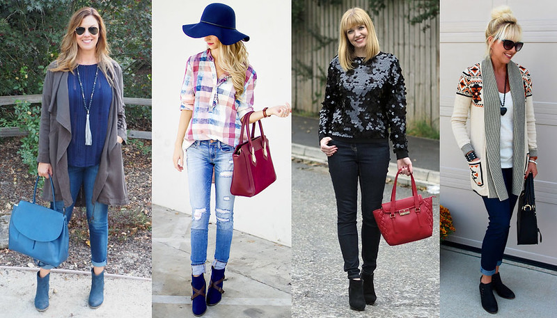 Fashion bloggers in autumn/fall style