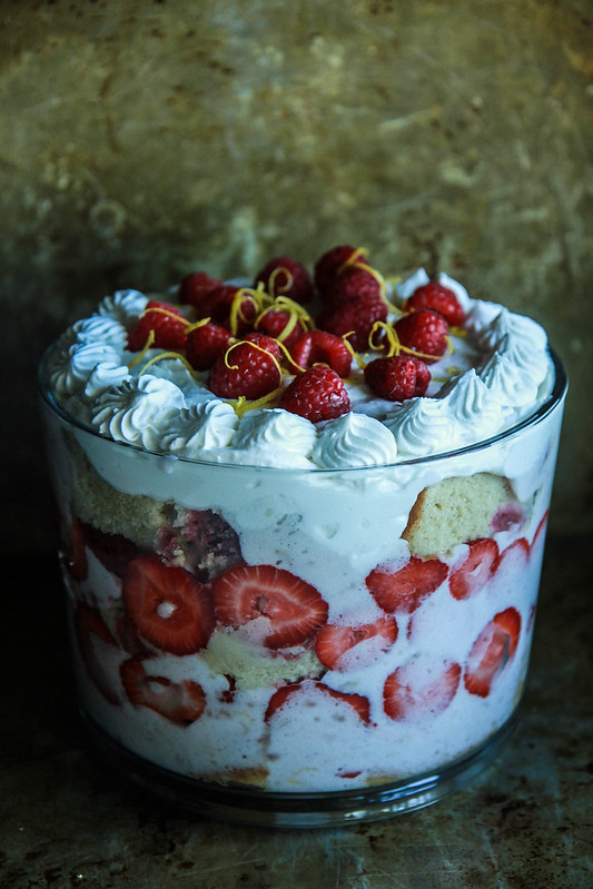 Rapberry lemon Trifle- Vegan and Gluten Free from HeatherChristo.com