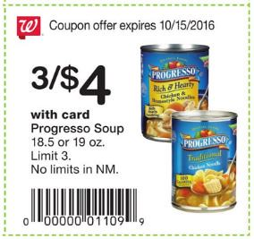 picture relating to Printable Progresso Soup Coupons called 0.83 Progresso Soup at Walgreens with Printable Coupon!