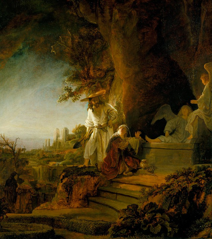 Rembrandt van Rijn - Christ and St Mary Magdalen at the Tomb (1638)