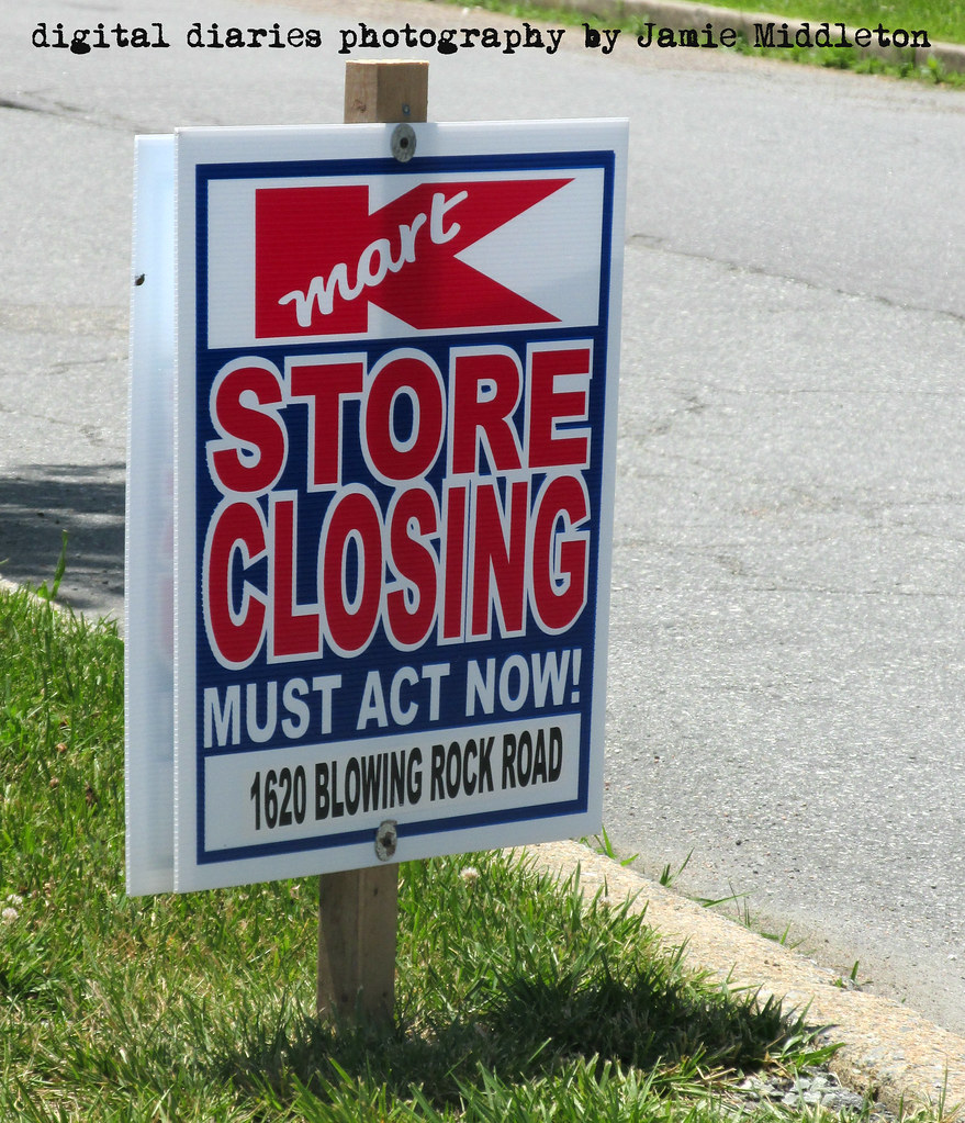 Kmart Closing Sign
