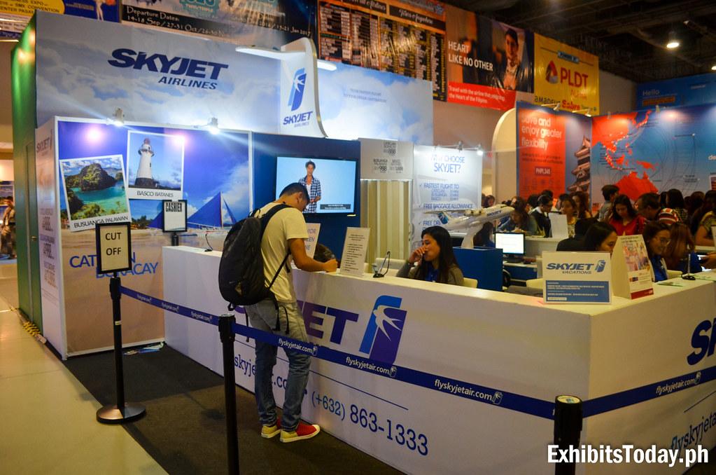 Skyjet Airlines Exhibit Stand