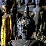 Buddha in Pak Ou Cave