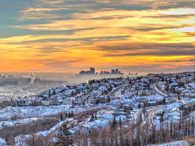 Foggy Calgary