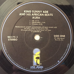 KING SUNNY ADE AND HIS AFRICAN BEATS:AURA(LABEL SIDE-A)