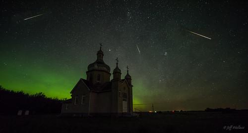 Perseids + Aurora, Thorhild Co., Alberta