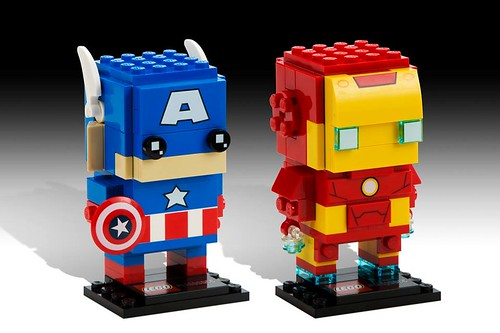 LEGO Marvel BrickHeadz Captain America & Iron Man