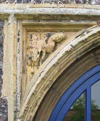 spandrel: lion and man
