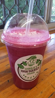 Red Velvet Smoothie from Charlie's Raw Squeeze Everton Park