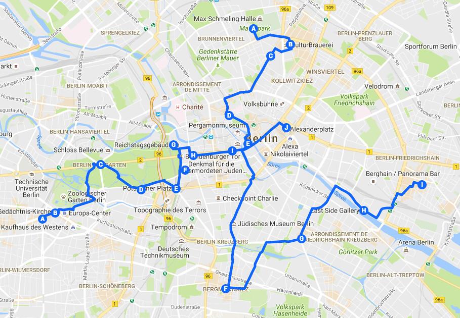 Itinéraires pour découvrir Berlin un week-end ou en 3, 4 jours.