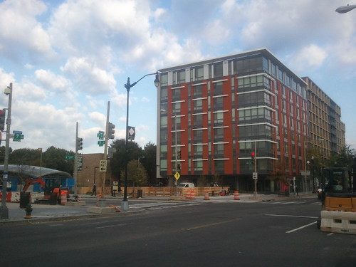 New construction apartments, Channing Phillips Building, 7th Street NW, Shaw neighborhood, DC