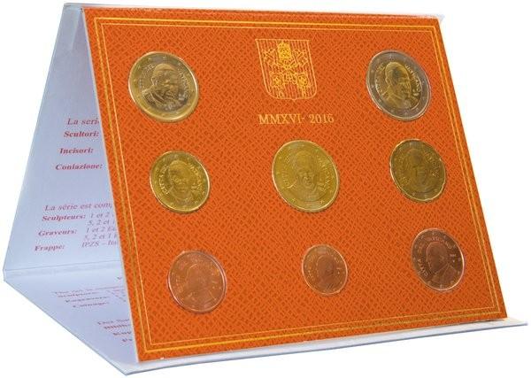 Oficiálna sada 8 Euro mincí Vatikán 2016
