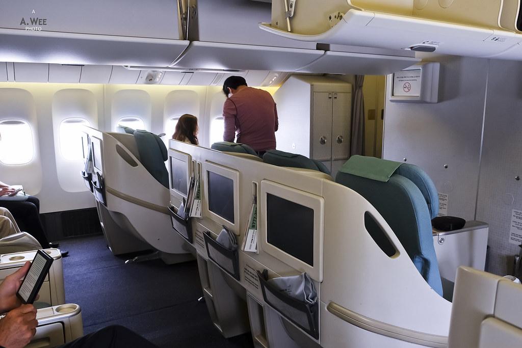 Aft Business class cabin