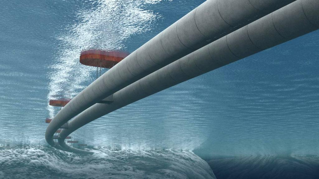 Плавающий туннель в Норвегии