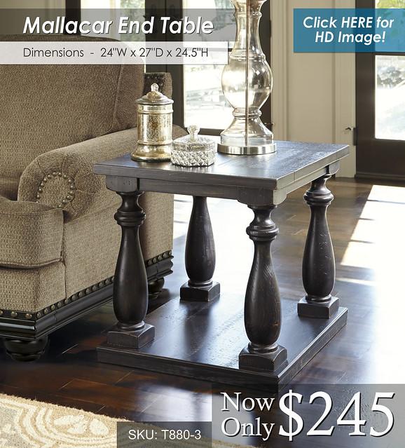 Mallacar End Table T880-3