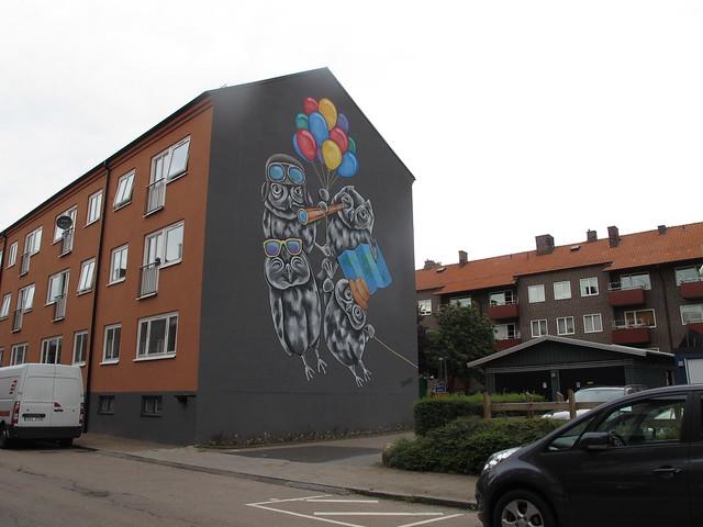 wednesday, hunting for street art with ingrid, helsingborg