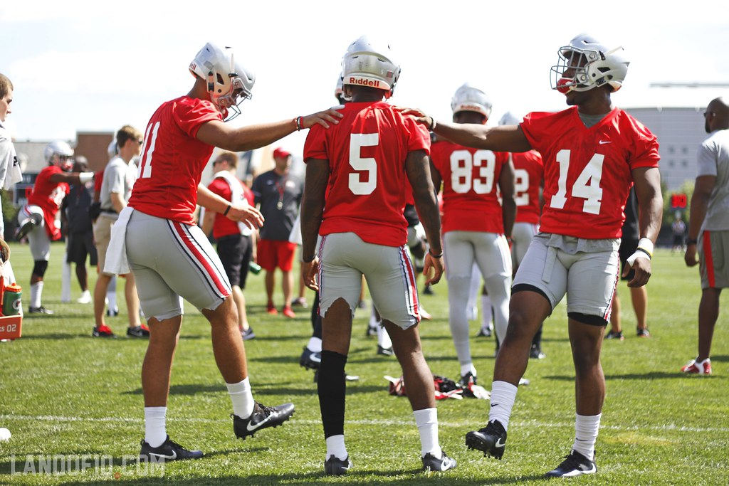 2016 Ohio State Football :: Upperclassmen first practice, August 7, 2016