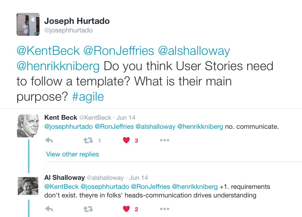 Kent Beck, Al Shalloway and Joseph Hurtado on Agile Stories