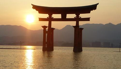 jp16-Myajima-Torii-coucher du soleil  (8)