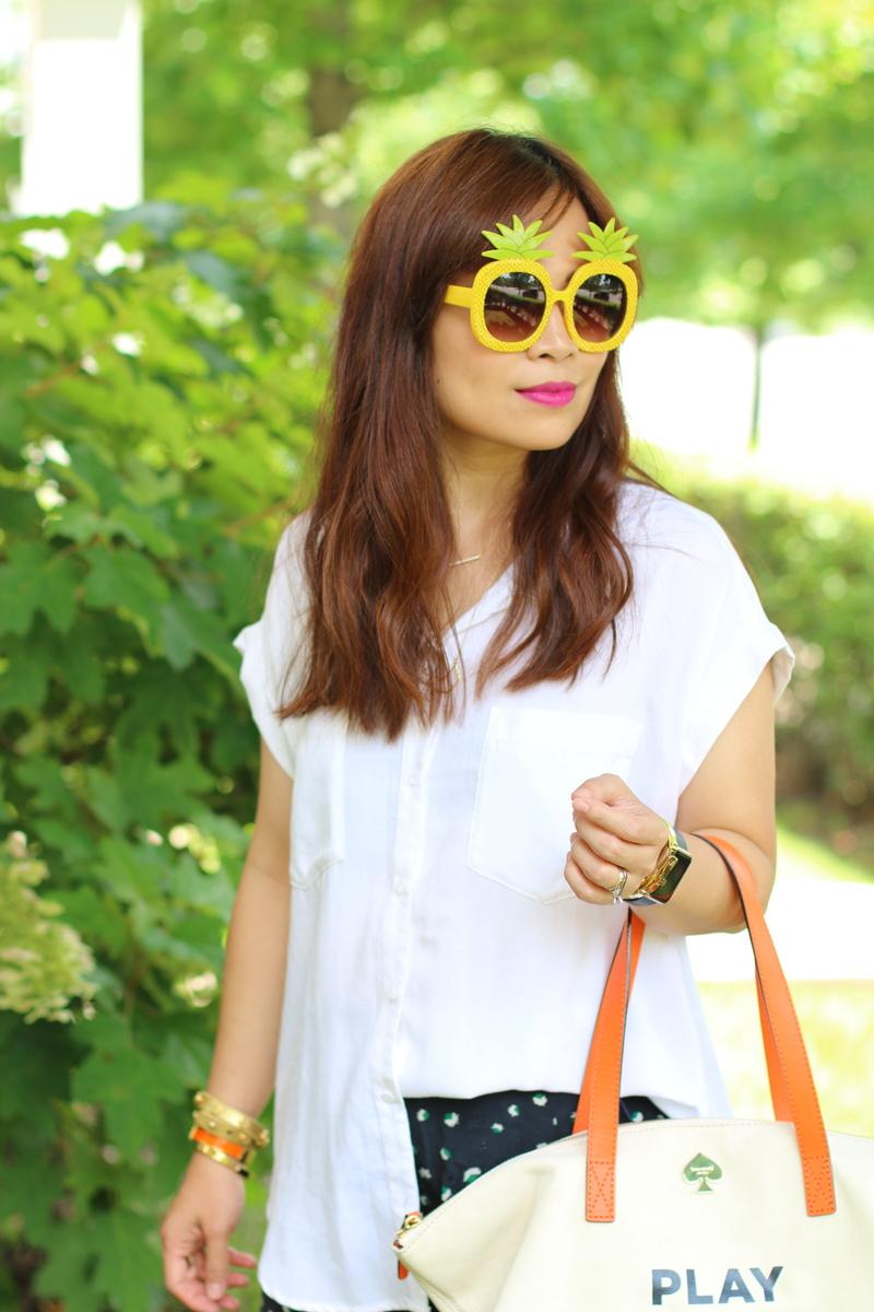 white-button-down-shirt-pineapple-sunglasses-5