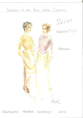Sunday in the Park with George Costume Sketches